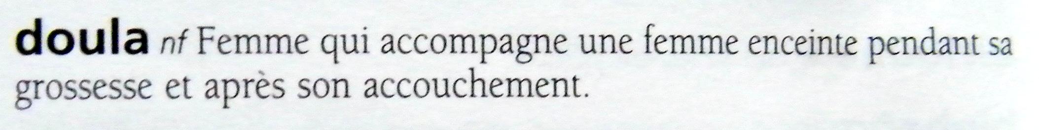 Définition doula Hachette