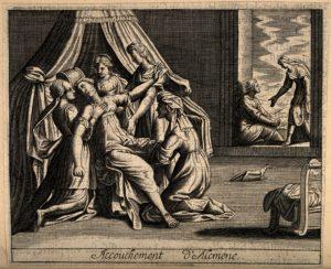Galanthis la doula, Alcmène donne naissance à Hercule
