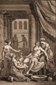 Galanthis la doula, accouchement d'Almène, naissance d'Hercule