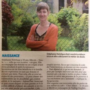 Stéphanie Holvêque, première «doula» de Bergerac