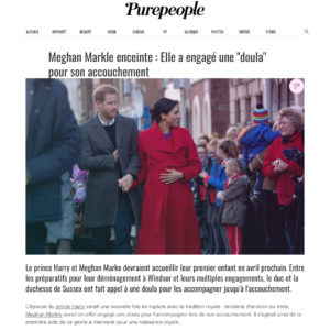 20190204 Purepeople Meghan Markle Prince Harry doula