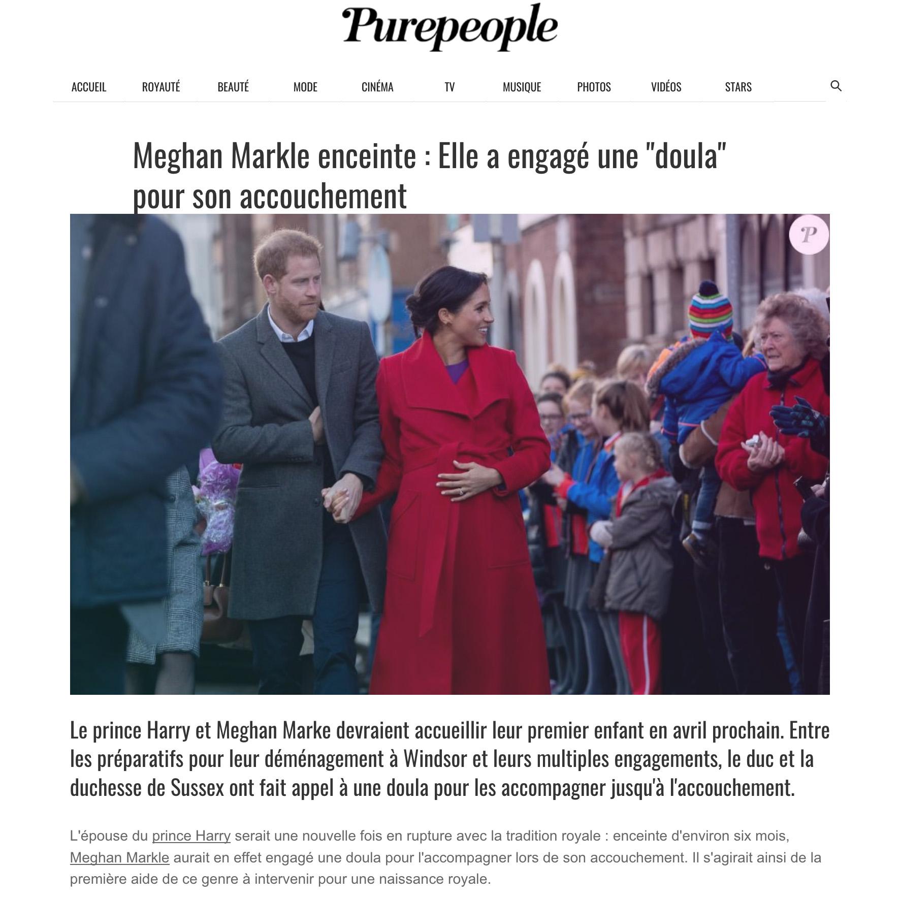 """Meghan Markle Enceinte : Elle A Engagé Une """"doula"""" Pour"""